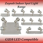 Range of Zaynah GU10 spotlight in Brushed Chrome Finish - Track Light