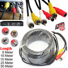 5M 10M 15M 20M 30M CCTV Security Phono RCA AV Video Power DVR Camera Cable Plug