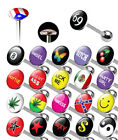 16mm sale New flat logo film/party/Cartoon/Sexy/Rude Tongue Bar tounge barbell