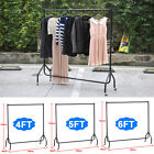 4ft/5ft/6ft Strong Clothes Rail Garment Hanging Rack Market Retail Display Stand