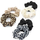 2 Piece Elasticated Black Brown Cream Animal Print Hair Scrunchie Accessory Set