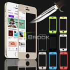 Multi-Color Premium Tempered Glass Screen Protector Film Skin for iPhone 5/5S/5C