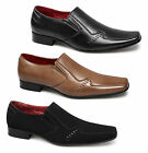 Rossellini Mens Soft Leather Lined Slip On Chisel Toe Comfy Office Casual Shoes