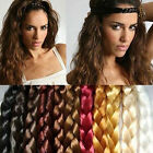 Women Braided Plaited Hair Headband Hairband Boho Multi-color Choose
