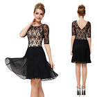 Ladies Short Lace Casual Winter Cocktail Party Mother Of The Bride Dress 03931