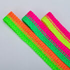 Neotrims India Bollywood Zig Zag Texture Braid in Fluorescent Colours, 2cm wide