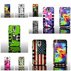 For Samsung Galaxy S5 - Stylish Design Dual Layer Tough Hybrid Phone Cover Case