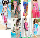 Chiffon Women Sexy Wrap Pareo Dress Sarong Beach Bikini Cover Up Scarf Swimwear