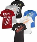 New Enzo Mens Designer Brand Logo Printed Crew Neck Tshirt Casual Party Wear Top