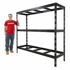 Garage Steel Shelving Black Or Galvanised STEEL ONLY Storage Shelf 3 or 4 Tier