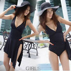 Women Hot Sexy One-piece Padded Monokini Bikini Swimsuit Swimwear Tankini Dress