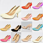 GRILS NEW  MID HEELS MULTI COLOURS CONCEALED PLATFORM WORK COURT SHOES UK 2-9