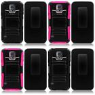 For Samsung S5 MINI Rugged Heavy Duty Side Stand Holster Cover Case