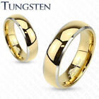 Mens/Womens Tungsten Gold/Silver Dome Band Ring/Wedding/Couples/Sizes 5-13 (184)