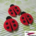 "(U Pick) Wholesale 50-500 Pcs. 1-1/4"" Padded Felt Lady Bug Appliques BU011"
