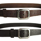 True Religion Mens Weathered Basic Distressed Leather Belt
