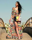 New Vogue Women Boho Vintage Chiffon Long Gypsy Maxi Cardigan Shirt Dress Hot