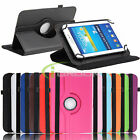 Universal Rotaty Folio Leather Case Cover for Verizon Ellipsis 7Inch RCA Tablet