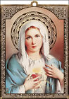 Wall Wood WOODEN PLAQUE Magnet SACRED HEART of MARY / St SAINT JOSEPH / THERESA