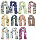 Ladies Scarf Summer Scarf Butterfly Scarf Butterfly Print Animal Print  sc06