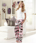 Women's Pink Camo Cargo Sweatpants Lounge Pants Med Large or XL