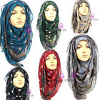 POLKA AND LACE Print Pattern Maxi Big Large Scarf Wrap Shawl Hijab Sarong