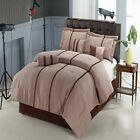 Krystal Chocolate and Taupe 11-Piece Luxury Bed in a Bag