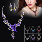2014 Charms Nice Jewelry Butterfly Necklace Earrings Set Wedding/Bridal/Party