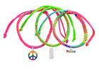 **Wonder Woman Neon Peace Macrame Friendship Bracelets Choice (Set of 3) ~~USA