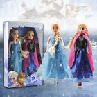 "NEW 12"" Frozen Princess Elsa & Anna Doll Figures Set Birthday Gift Playset"