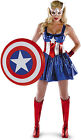 NEW Captain America Sassy Deluxe Adult Costume Fancy Dress Australian Seller