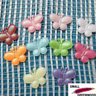 "(U Pick) Wholesale 50-500 Pcs. 1"" Padded Felt Shiny Butterfly Appliques B0570"