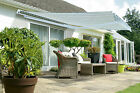 4M Wide x 4M Long Projection HALF CASSETTE ELECTRIC GARDEN PATIO AWNING CANOPY