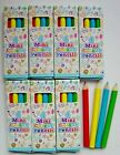 Mini Colouring Pencils, Pack 4, Party Bag Favours, boy girl, pencil crayons
