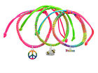 **BEEHIVE** Neon Peace Macrame Friendship Bracelets Choice (Set of 3) ~~USA