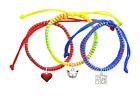 **CAT FACE** Primary Or Neon Set Macrame Friendship Bracelets (Set of 3) ~~USA