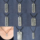 Charms Silver Leather Choker Necklace Long Pendant Charm New Unisex Jewelry