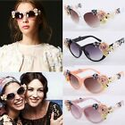 Fashion Hot Retro Vintage Shades Women Designer Rose Flowers Sunglasses B5UT