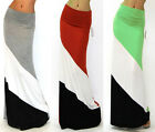 Fashion Popular Trends High Waisted Classic Women Color Maxi Skirt Colorful