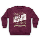 LONG LIVE PALESTINE LONG LIVE GAZA ANTI WAR PROTEST KIDS SWEATSHIRT SWEATER
