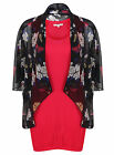 BRAND NEW LADIES TOMMY AND KATE TWINSET SUMMER VEST FLORAL KIMONO SIZE 8-22