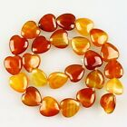 K59561 16x5mm Red agate heart-shaped loose beads 25pcs