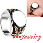 316L Stainless Steel Eagle MASONIC Freemasons Finger Ring Gothic US9-12