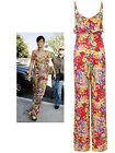 Womens Ladies Celeb Rihanna Inspired Frill Strapy All In One Jumpsuit UK 8-14
