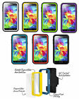 Amzer CRUSTA 4 Layer Protection Case Tempered Glass Clip Holster For Galaxy S5