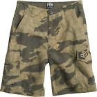 NEW FOX RACING BOYS YOUTH MILITARY CAMO SLAMBOZO CARGO SHORTS 100% COTTON