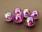 10mm 40/100/../300pcs IRIDESCENT ORCHID ACRYLIC LUCITE ROUND BEADS TY2398