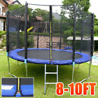 Drop Price 8FT 10FT TRAMPOLINE WITH SAFETY NET ENCLOSURE RAIN COVER LADDER