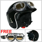 LEOPARD LEO-818 Scooter Motorcycle Motorbike Crash Helmet Gloss Black Free Visor