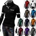 Newly Mens Slim Fit POLO Shirt Short Sleeve Casual T-shirts Tee Tops Size L-XXXL